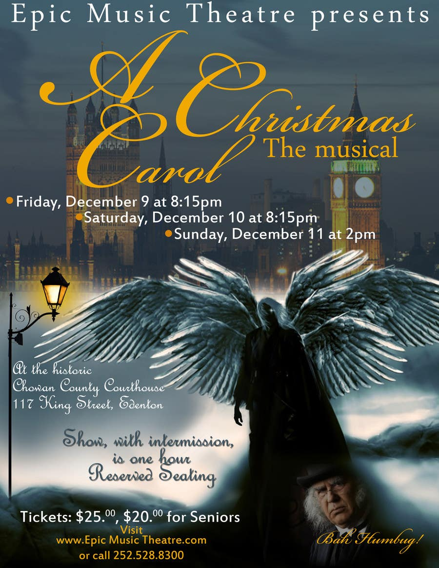 A Christmas Carol Poster.Entry 5 By Laineyflash For Christmas Carol Show Poster