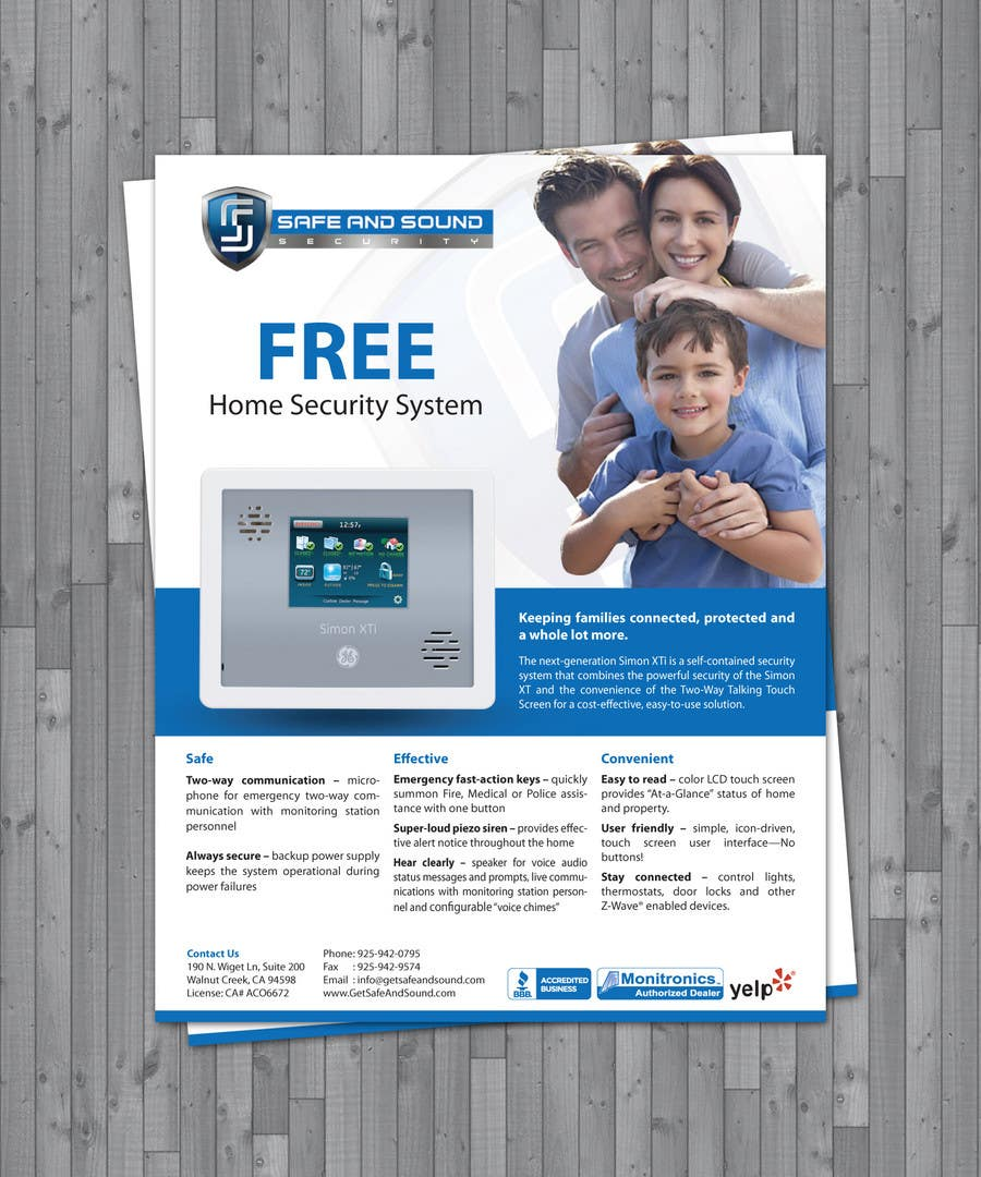 Contest Entry #7 for Flyer Design for Safe and Sound Security