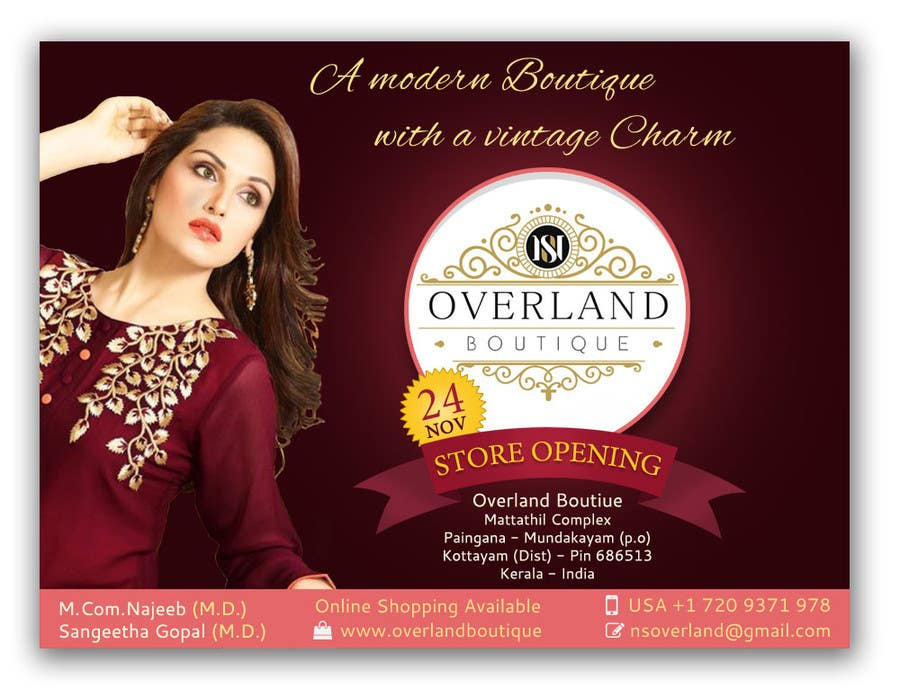 Entry 47 By Suart For Online Clothing Boutique Flyer OVERLAND
