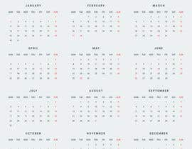 #9 для I need some Graphic Design for a 2017 Calendar от sheikhrajeeb