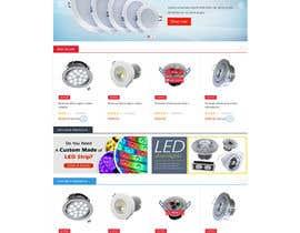 #12 for Design a new hompage for a lighting company website af pragnatechno