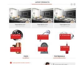 #19 for Design a new hompage for a lighting company website af onneti2013