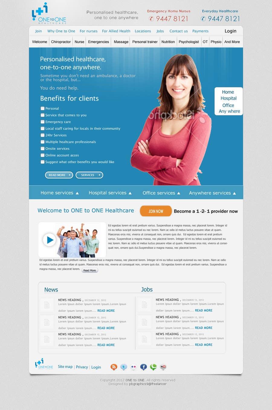 Konkurrenceindlæg #                                        107                                      for                                         WEBPAGE FINISH OFF Design based on already designed layout