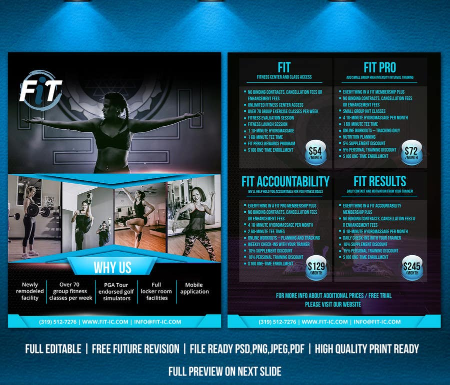 entry 16 by adidoank123 for luxury gym pricing flyer freelancer