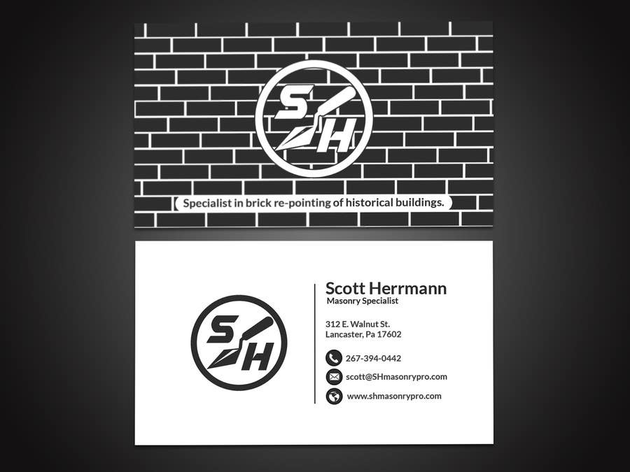 Entry 22 by papri802030 for masonry contractor business card and masonry contractor business card and logo colourmoves