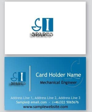 #150 for Business Card Design for SI - Spares by usmanvardag