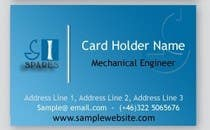 Contest Entry #154 for Business Card Design for SI - Spares