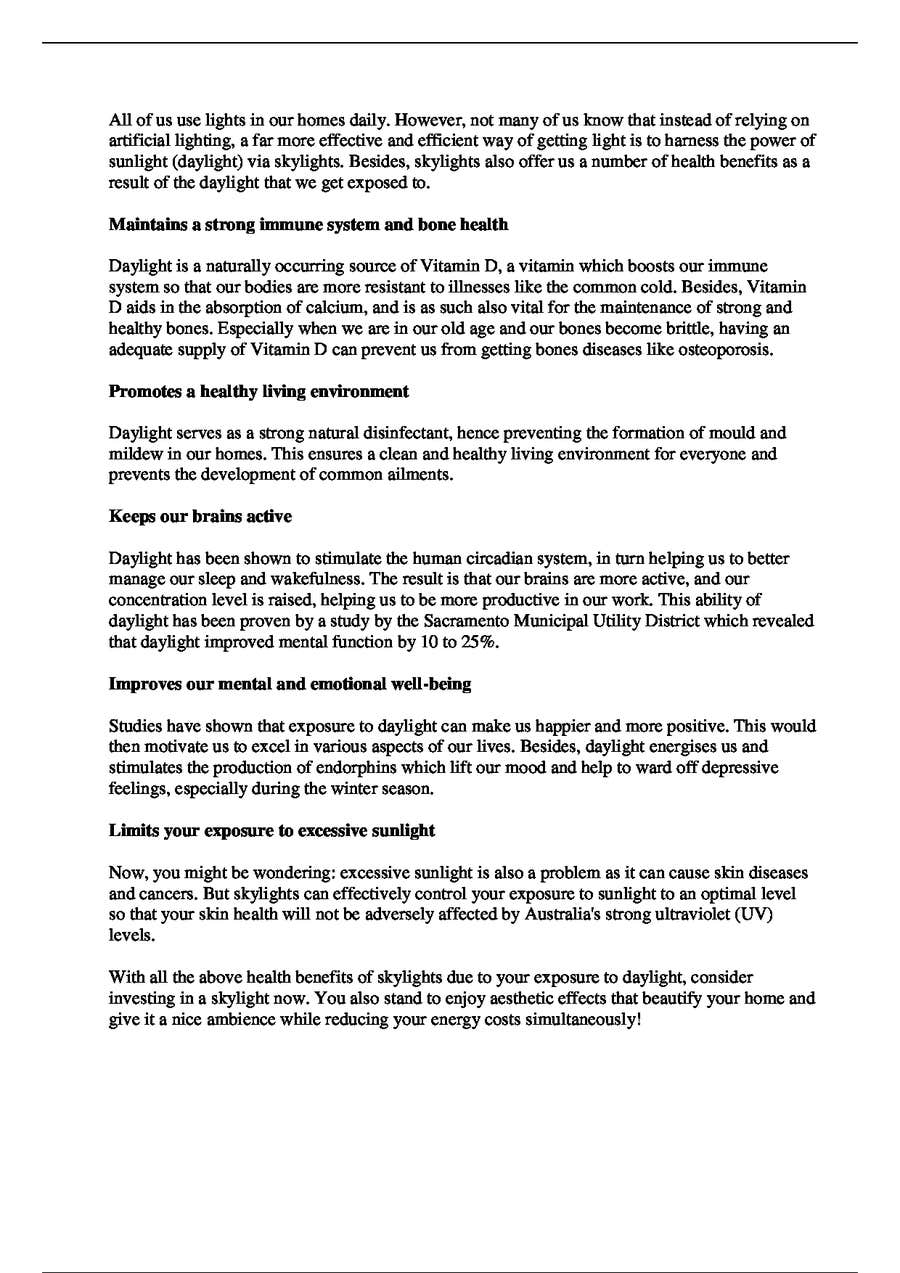 Entry #15 by aaronlowcy for Write and Article on 'The Health