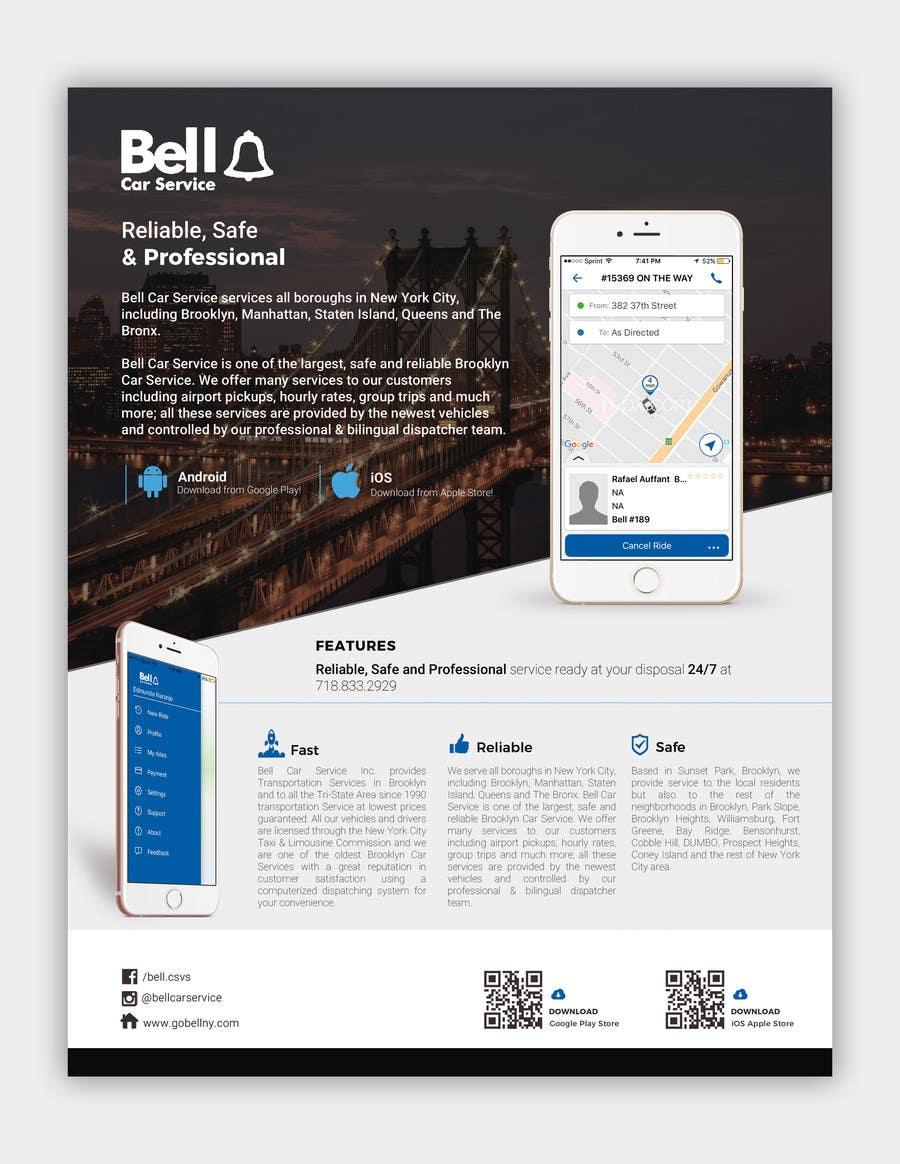 Bensonhurst Car Service >> Entry 6 By Ahmedabdelrahim1 For Bell Car Service App Flyer