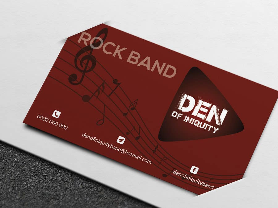 Entry #95 by atikul4you for Design Some Business Cards - Rock Band ...