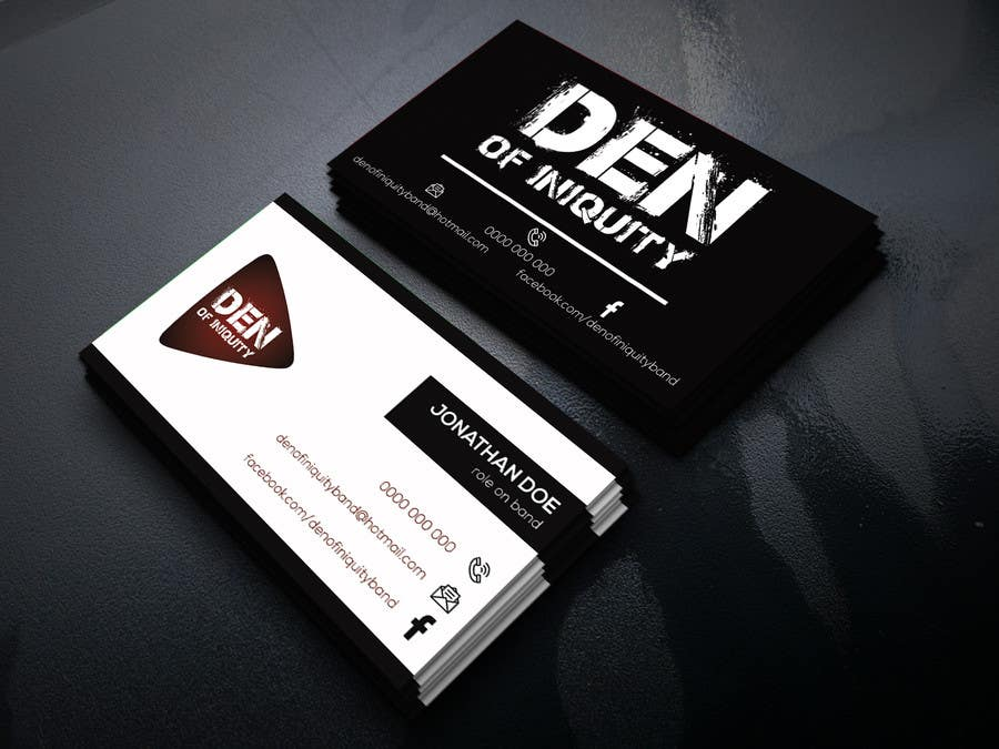 Entry #123 by pixelplayer0 for Design Some Business Cards - Rock ...