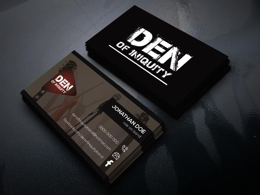 contest entry 124 for design some business cards rock band den of iniquity - Band Business Cards