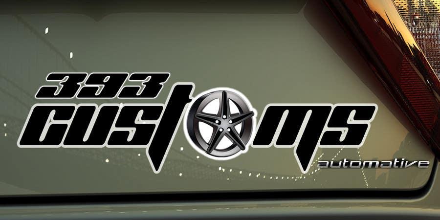 Kilpailutyö #52 kilpailussa Logo Design for 393 CUSTOMS