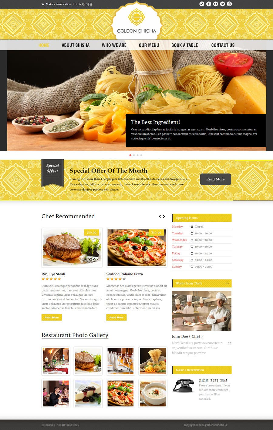 Inscrição nº                                         25                                      do Concurso para                                         Создание веб-сайта for the thegoldenshisha.com