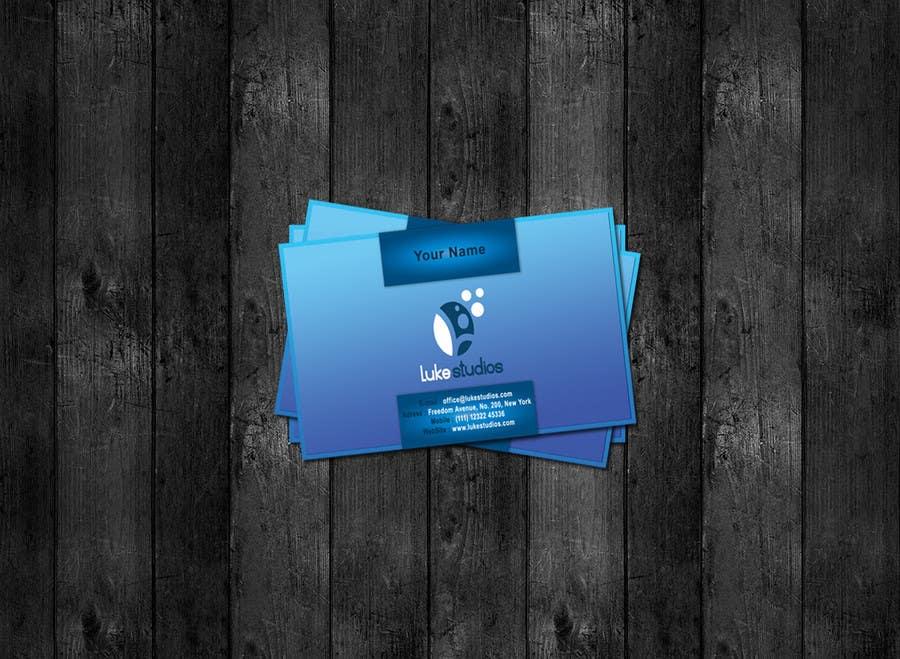 Inscrição nº 109 do Concurso para Business Card Design for Luke's Studio