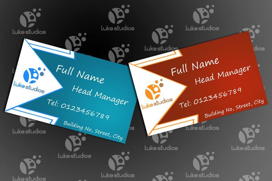 Inscrição nº 113 do Concurso para Business Card Design for Luke's Studio