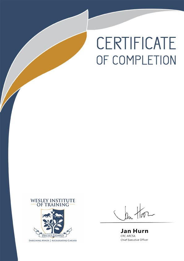 Design some Stationery Certificate of Completion for a Training – Certificate of Completion Training