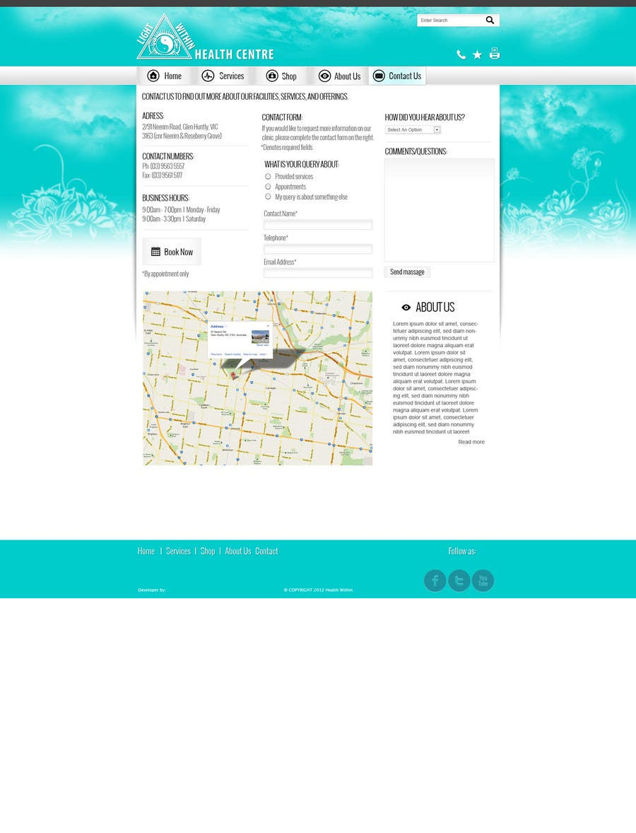 Konkurrenceindlæg #                                        1                                      for                                         web design 2/3 pages - custom project for dizajnline ONLY