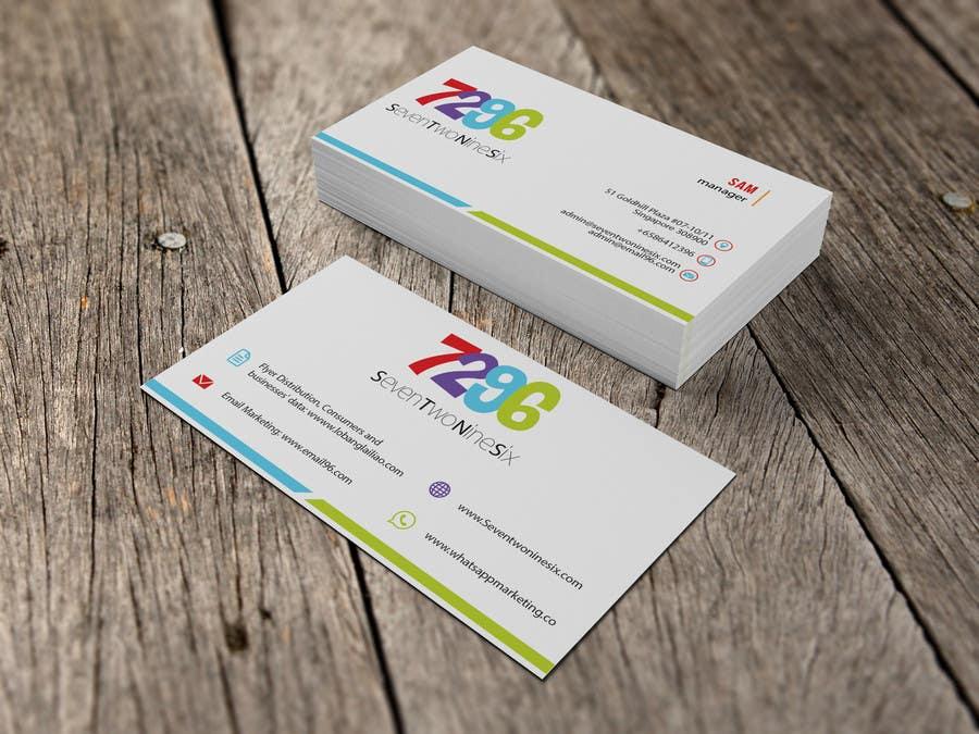 Penyertaan Peraduan #                                        27                                      untuk                                         Design some Business Cards for SevenTwoNineSix