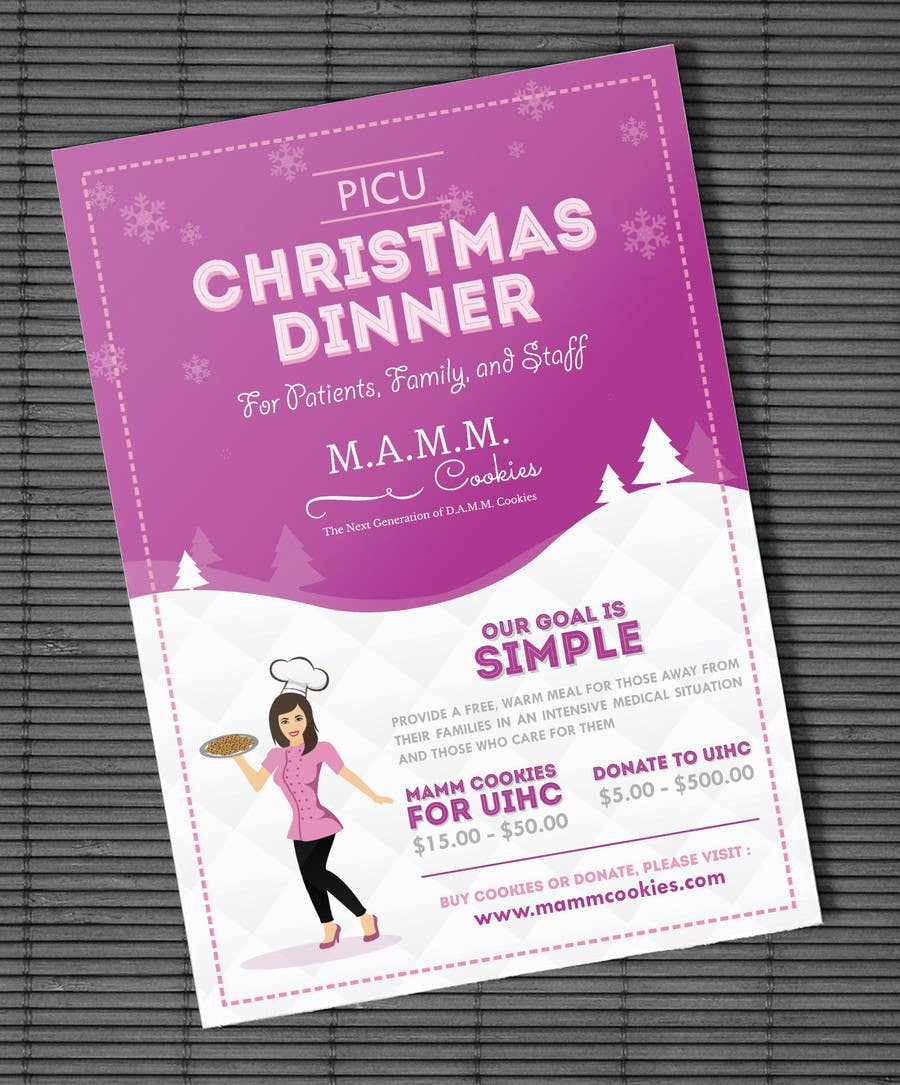 Christmas Fundraiser Flyer.Entry 22 By Adhitya7393 For Mamm Cookie Fundraiser Flyer