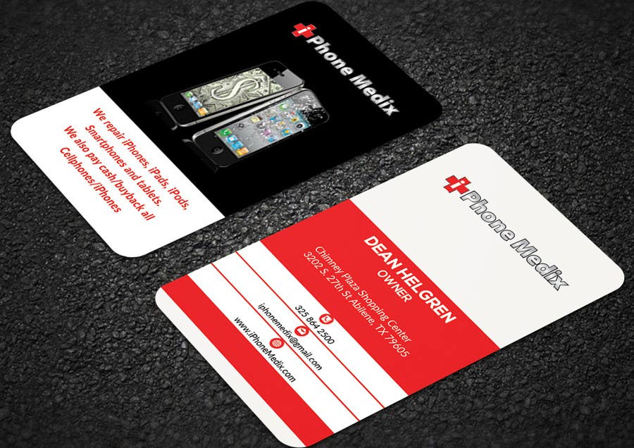 Entry 76 by mehfuz780 for business card designcellphone tablet business card reheart Gallery
