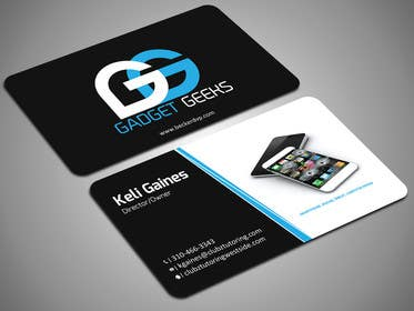 Image of                             Business Card Design with a logo