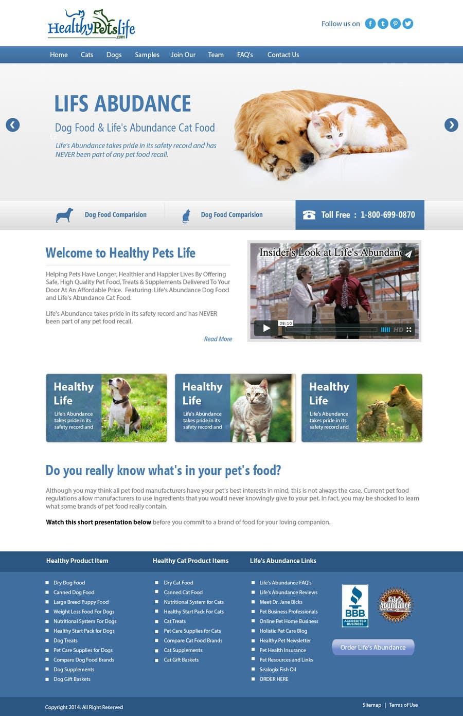 Penyertaan Peraduan #                                        20                                      untuk                                         Design a Wordpress Mockup for Pet Food Website