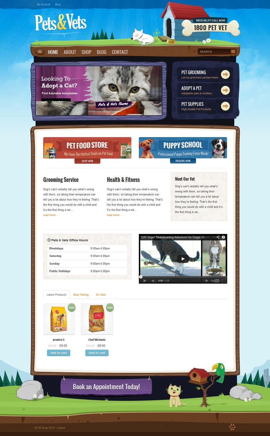 Penyertaan Peraduan #                                        8                                      untuk                                         Design a Wordpress Mockup for Pet Food Website