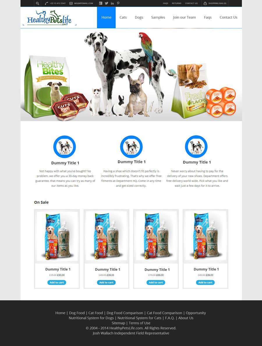 Penyertaan Peraduan #                                        4                                      untuk                                         Design a Wordpress Mockup for Pet Food Website