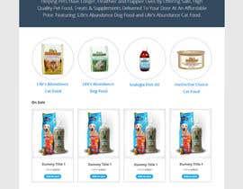 #23 untuk Design a Wordpress Mockup for Pet Food Website oleh AkhilAbraham