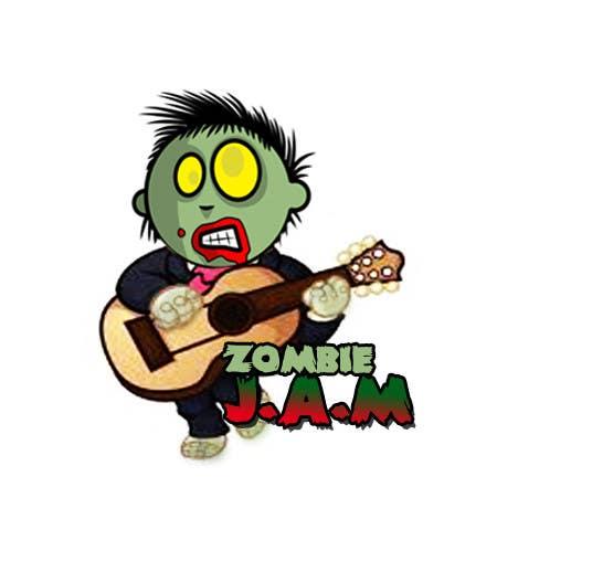 """Penyertaan Peraduan #                                        7                                      untuk                                         Design a T-Shirt for a kids' band called """"Zombie J.A.M."""""""