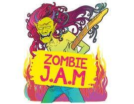 "#4 untuk Design a T-Shirt for a kids' band called ""Zombie J.A.M."" oleh Christina850"
