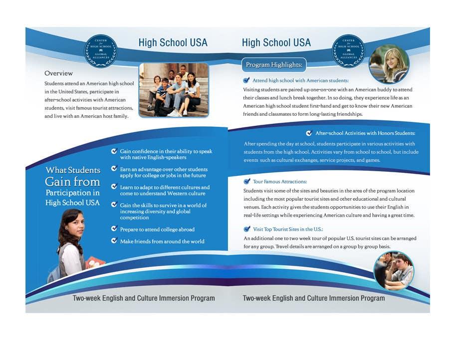Brochure design for center for high school global for High school brochure template