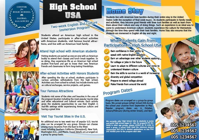 how to write a brochure for school