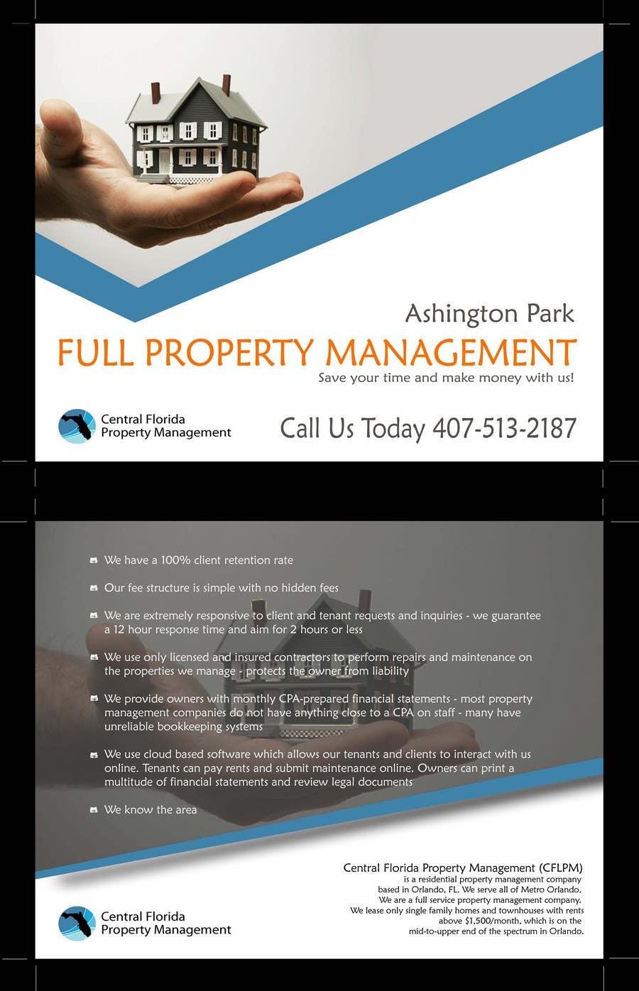 #10 for Ashington Park Flyer Design for Central Florida Property Management by annaputnik