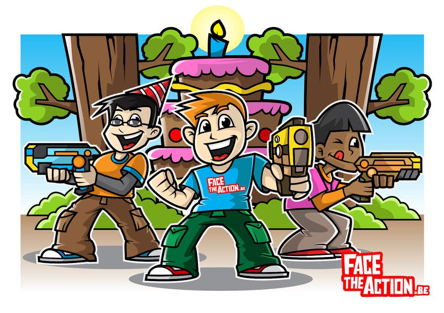 entry 41 by myprints for laser tag birthday party drawings freelancer rh freelancer com Laser Beam Theme Park Clip Art