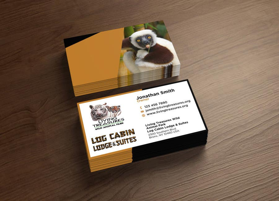 Entry #126 by designergirl21 for Zoo keeper Business Cards | Freelancer