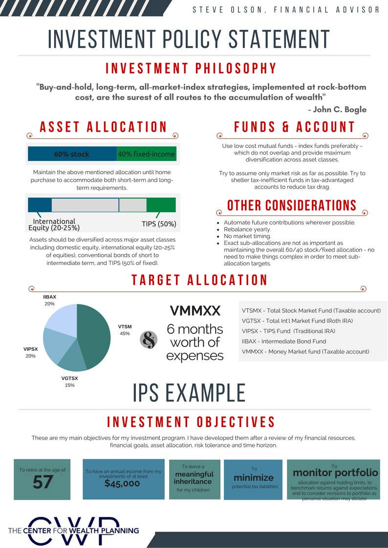 Illustrate Financial Concepts in an Investment Policy ...
