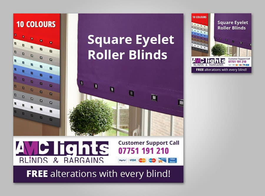 Bài tham dự cuộc thi #13 cho Graphic Design for AMC Lights Blinds And Bargains