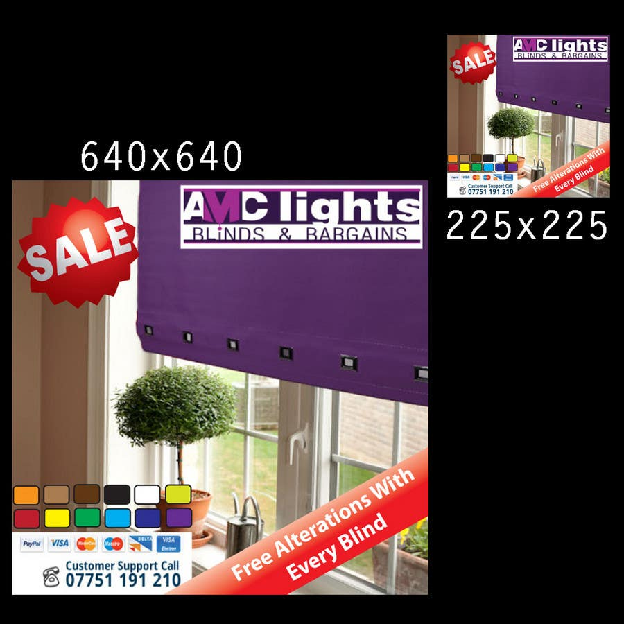Bài tham dự cuộc thi #22 cho Graphic Design for AMC Lights Blinds And Bargains