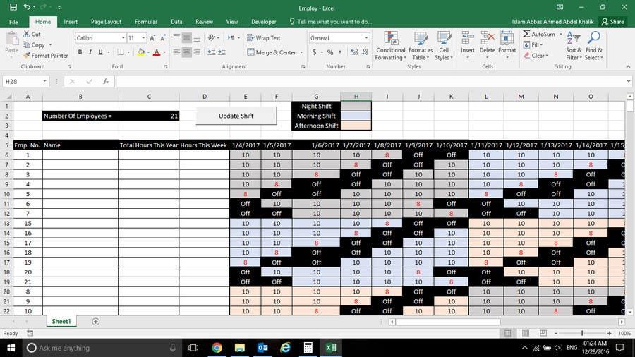 shift scheduler
