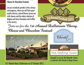 scyan tarafından Flyer & Basic Logo for Dullstroom Cherry Cheese and Chocolate Festival için no 16