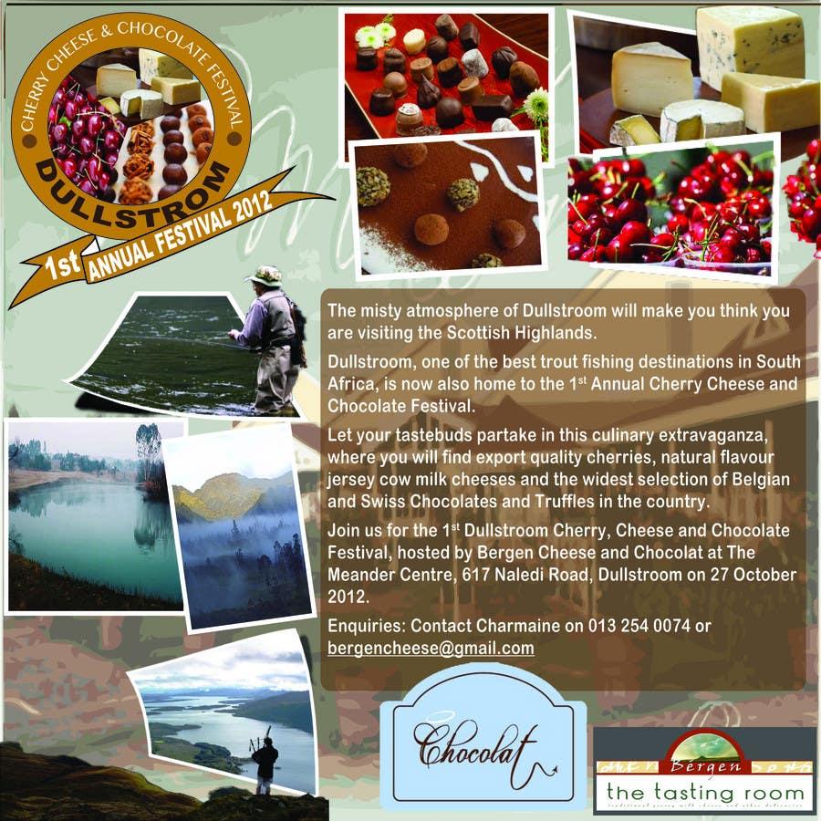 Inscrição nº 21 do Concurso para Flyer & Basic Logo for Dullstroom Cherry Cheese and Chocolate Festival