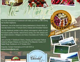 #18 for Flyer & Basic Logo for Dullstroom Cherry Cheese and Chocolate Festival by jmars001