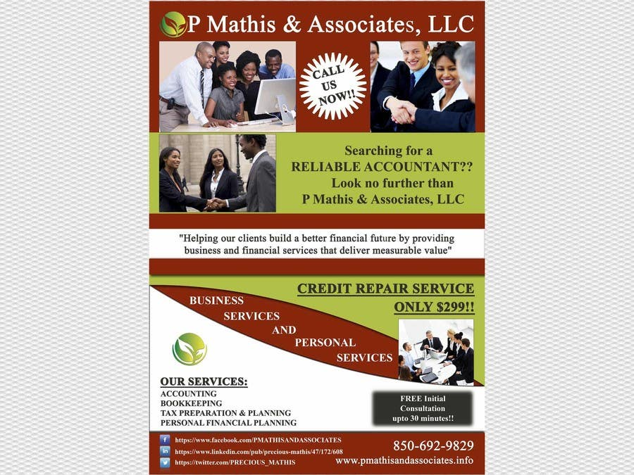 #13 for Design a Flyer for my Credit Repair Company by babaprops