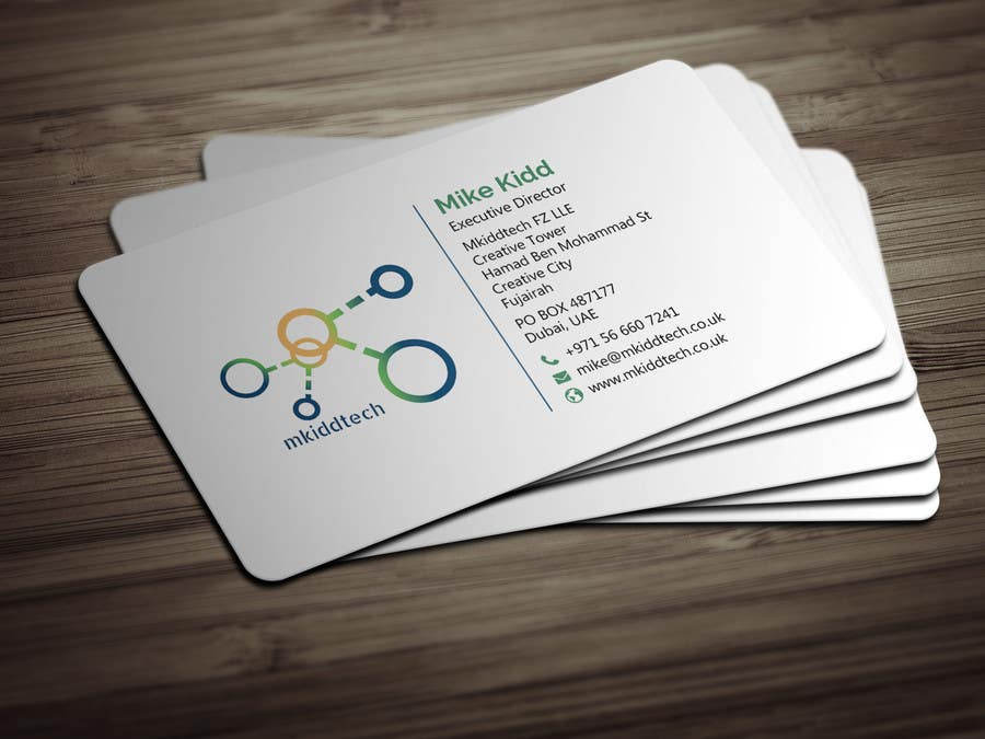 Entry 9 by bikashbapon for design a business card template for contest entry 9 for design a business card template for mkiddtech fz lle in english reheart Choice Image