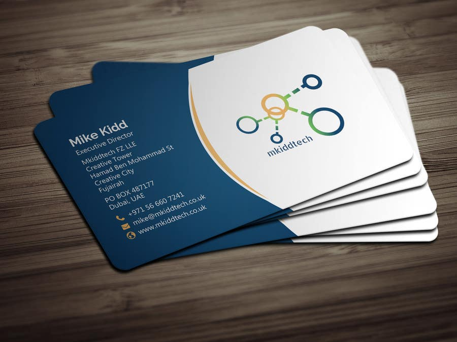 Entry 17 By Bikashbapon For Design A Business Card Template For