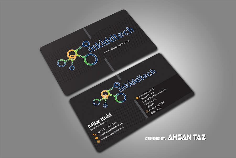 Entry 31 By Tazbabu420 For Design A Business Card Template For