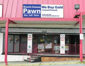 #39 untuk Graphic Design for Branch Avenue Pawn Store Front Sign oleh Rooi