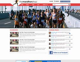#17 cho Design a Website Mockup for TheMarathonShop bởi graphicethic